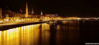 From the Chain Bridge, the Danube catches the reflections of Buda